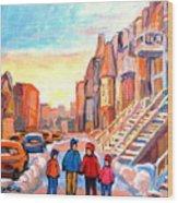 Rue Hotel De Ville Montreal Wood Print