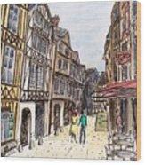 Rue Malpalu, Rouen, France I Wood Print