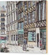 Rue Malpalu, Rouen, France II Wood Print