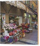 Rue Pairoliere In Nice Wood Print