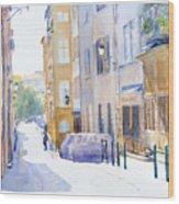 Rue Saint Georges Wood Print