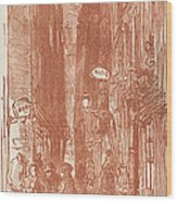 Rue Saint-severin Wood Print