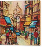 Rue St Jacques Old Montreal Streets  Wood Print