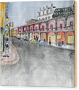 Rue St. Louis Wood Print