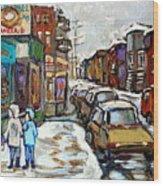 Achetez Les Petits Formats Scenes De Montreal St Viateur Bagel And Cola Truck Buy Montreal Painting  Wood Print