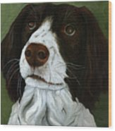 Rueger - Dog Portrait Oil Painting Wood Print