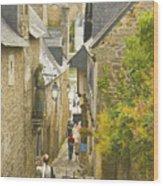 Ruelle Qui Mene Au Port De St. Goustan Wood Print