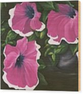Ruffled Petunias Wood Print