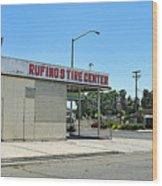 Rufino's Tire Center Wood Print