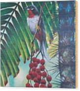 Rufous-throated Solitaire Wood Print