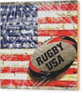 Rugby Football  Wood Print