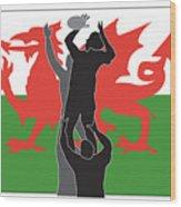 Rugby Wales Wood Print