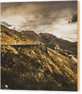 Rugged And Intense Mountain Background Wood Print