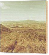 Rugged Bushland View Wood Print