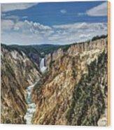 Rugged Lower Yellowstone Wood Print