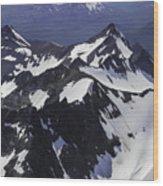 Rugged Mountain Peaks Wood Print