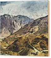Rugged Mountains Of North India Wood Print