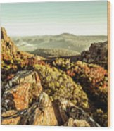 Rugged Mountaintops To Regional Valleys Wood Print