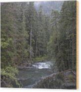 Rugged River Wood Print