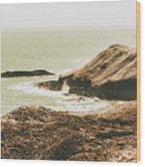 Rugged Rocky Cape Wood Print