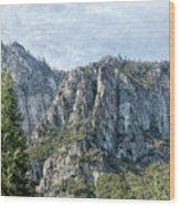 Rugged Valley Walls Wood Print
