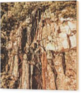 Rugged Vertical Cliff Face Wood Print