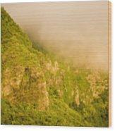 Rugged Volcanic Peaks Of Moorea Wood Print