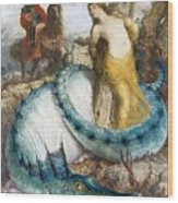 Ruggiero And Angelica Arnold Bcklin Wood Print