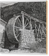 Ruidoso Waterwheel Wood Print