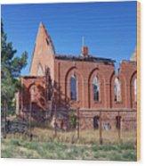 Ruined Church In Rural Utah Wood Print