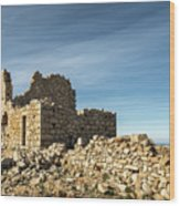 Ruined Stone Building At Occi In Corsica  Wood Print