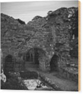 Ruins At Donegal Abbey Donegal Ireland Wood Print