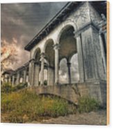 Ruins At Dusk Wood Print