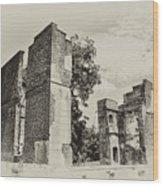 Ruins At Jamestown Wood Print