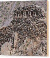 Ruins At The Ollantaytambo Site Wood Print