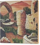 Ruins In Cumae Italy Wood Print