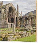 Ruins. Melrose Abbey. Wood Print