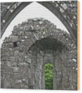 Ruins Of A 9th Century Monastery In Ireland Wood Print