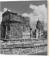 Ruins Of Ek Balan Wood Print