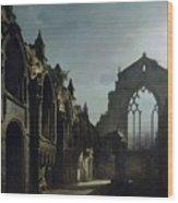Ruins Of Holyrood Chapel Wood Print