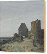 Ruins Of The Rosemont Castle  Wood Print