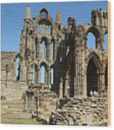 Ruins Of Whitby Abbey Wood Print
