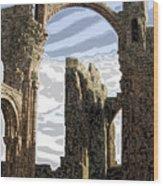 Ruins On The Holy Island Wood Print