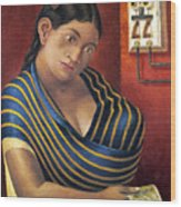 Ruiz: Lottery Ticket Seller Wood Print