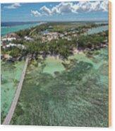Rum Point Beach Panoramic Wood Print