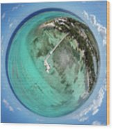 Rum Point Little Planet Wood Print