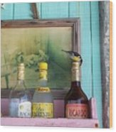 Rum Shack Bananaquit Wood Print