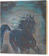 Run Horse Run Wood Print