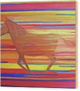 Run With The Sun II Wood Print