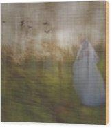 Runaway Bride Wood Print